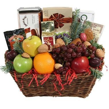 Cesta Gourmet con frutas