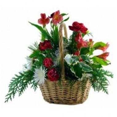 Canasta de Flores para Navidad a Republica_dominicana - Floreria de ...