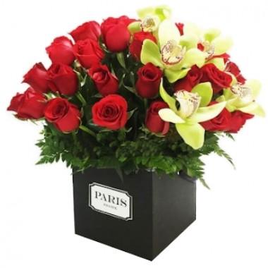 Rosas y Orquídeas