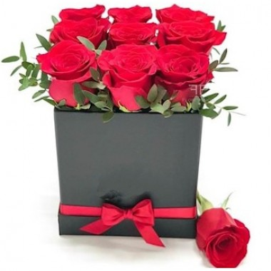 Caja de 9 Rosas