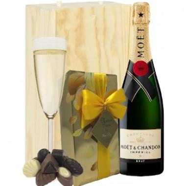Moet & Chandon Champgne y chocolates