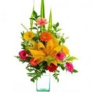 Flores brillantes