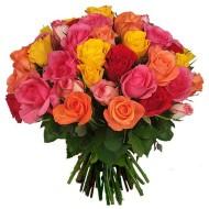 Bouquet de tres docenas de rosas de colores