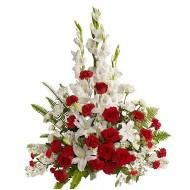 Gladiolos y Rosas de Condolencia